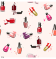 seamless pattern Hand drawing with nail polish vector image vector image