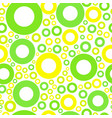 seamless pattern with green and yellow circles vector image vector image