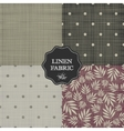 set for linen fabric vector image