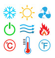set of conditioning icons vector image