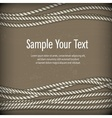 Set of ropes on brown text vector image vector image