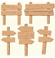 set of wooden planks vector image vector image