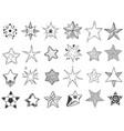 sketch stars doodle star shape cute hand drawn vector image vector image