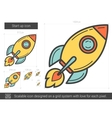 Start up line icon vector image