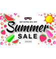 summer sale template horizontal flat paper banner vector image vector image