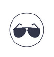 Sunglasses icon on white