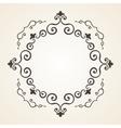 Victorian frame Vintage design vector image