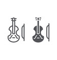 violin line and glyph icon music and instrument vector image vector image