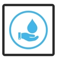 Water Service Framed Icon vector image vector image