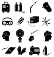 Welding work icons set vector image vector image