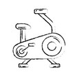 figure bike machine to do exercise and healthy vector image