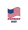 patriot day us flag on white background memorial vector image