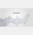 abstract molecular background with lines and dots vector image