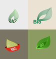 Bio logo green leaves leaves environmental icons vector image