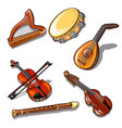 a set of classic strings percussion and wind vector image