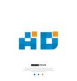 ad or da logo letter initial design template