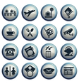Airport icons set vector image vector image