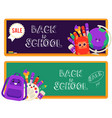 back to school sale set of vector image vector image