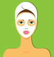 beauty mask vector image vector image