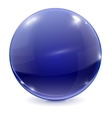 Blue sphere 3d glass ball vector image vector image