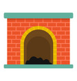 brick fireplace icon cartoon style vector image vector image