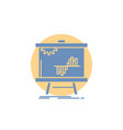business chart data graph stats glyph icon vector image