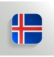 Button - Iceland Flag Icon vector image