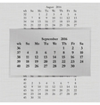 calendar month for 2016 pages September vector image vector image