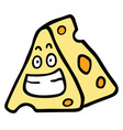 cheese smile vector image vector image