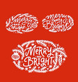 christmas winter holiday lettering set hand vector image