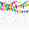 colorful confetti celebration carnival party vector image vector image