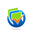 document paper finance icon vector image