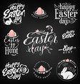 easter greeting card elements labels and badges vector image vector image
