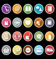 Ecommerce icons with long shadow vector image vector image
