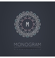 Elegant linear abstract monogram logo design vector image vector image