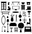 flat home appliance furniture and interior vector image