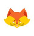 fox angry emoji wild beast evil emotions avatar vector image vector image