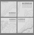geographic mountain topography vector image vector image