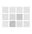 geometric doodle patterns hand drawn seamless vector image vector image