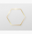 golden frame with light shadow and light affects vector image vector image