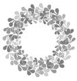 Grey laurel wreath frame on white background vector image