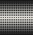 halftone circles and rings geometric background vector image vector image