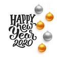 happy new year 2020 typography on card vector image