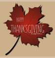 happy thanksgiving day background autumn poster vector image
