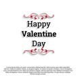 happy valentines day card simple vector image