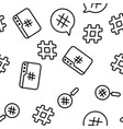 hashtag number sign seamless pattern vector image vector image