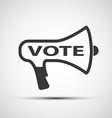 icon megaphone with word vote vector image vector image