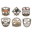icons for hunting club open season vector image vector image