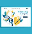 isometric business financial cooperation between vector image vector image