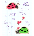 ladybugs in love vector image vector image